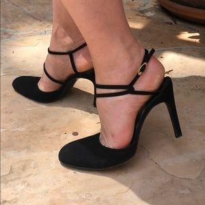 Gianni Versace black suede vintage heels